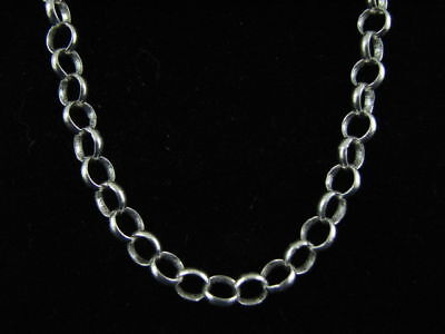 "Sterling Silver Rolo Chain Necklace 7mm 18"" Solid 925"