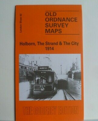 Old Ordnance Survey Detailed Map Holborn Strand & City London 1914 Sheet 62  New
