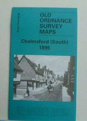 Old Ordnance Survey Maps Essex Chelmsford South 1895 Sheet 52.08 Godfrey Edition