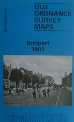 p;OLD ORDNANCE SURVEY MAPS  BRIDPORT DORSET 1901 GODFREY EDITION NEW