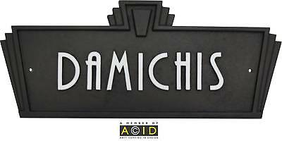 Art Deco Style House Name Plaque sign door plaque retro sign 1930s 1940s