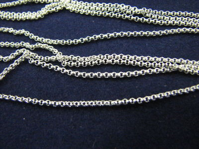 """10 pcs Sterling Silver Fine Rolo Link Chains 1.2mm 16"""""""