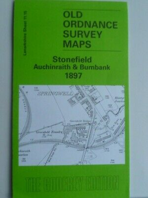 Old Ordnance Survey Map Stonefield Auchinraith Burnbank Scotland  1897 S11.15