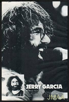 1976 THE GRATEFUL DEAD JERRY GARCIA JPN mag PHOTO PINUP