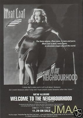 1995 MEAT LOAF Welcome To The Neighborhood JAPAN AD