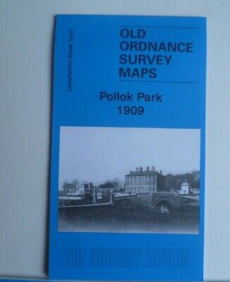 Old Ordnance Survey Maps Pollok Park Lanarkshire Scotland 1909 Godfrey Edition