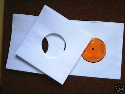 """50  7"""" VINYL RECORD single white paper sleeves, covers 80 gsm"""