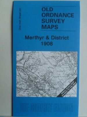 Old Ordnance Survey Map Merthyr & District & Map Ystradfellte 1908 Godfrey Edt