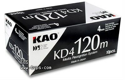 KAO KD4 120m DDS2 4mm Data Cartridge, Box of 10