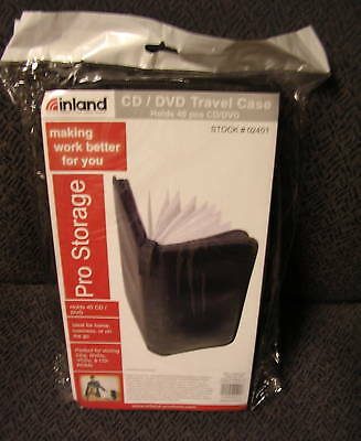 INLAND CD/DVD Travel Case - 02401 - NIP