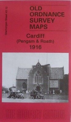 OLD ORDNANCE SURVEY  Cardiff Pengam & Roath 1916 S43.12