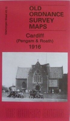 Old Ordnance Survey Maps Cardiff Pengam & Roath Glamorgan 1916 Godfrey Edition