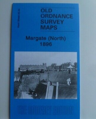 Old Ordnance Survey Maps Margate North  Kent 1896  Godfrey Edition New