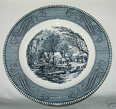 Royal China Currier & Ives Pattern Old Grist Mill Dinner Plate