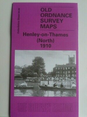 OLD ORDNANCE SURVEY MAPS HENLEY-on-THAMES (N) OXFORDSHIRE  1910 Godfrey Edition