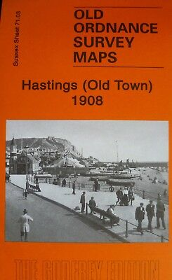 OLD ORDNANCE SURVEY MAPS HASTINGS  (Old Town) SUSSEX 1908 Godfrey Edition New