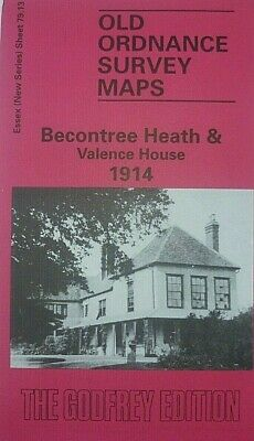 OLD ORDNANCE SURVEY MAPS BECONTREE HEATH & VALENCE HOUSE ESSEX 1914  Godfrey Edt