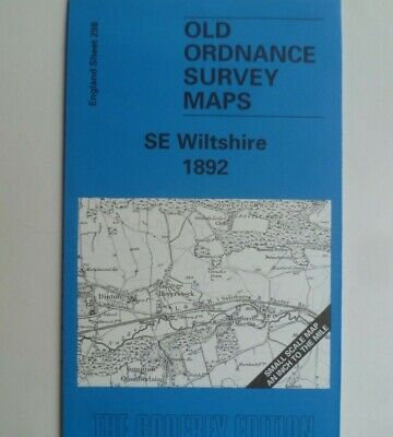 Old Ordnance Survey Map Se Wiltshire & Plan Wylye 1892 Sheet 298 New