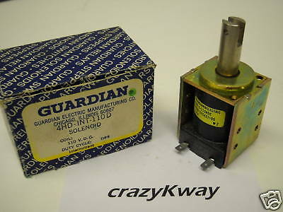 Guardian Electric 4Hd-Int-110A 110Vac Solenoid New Condition In Box