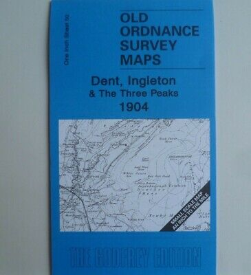 Detailed Old Ordnance Survey Maps Dent Ingleton 3 Peaks & Map Dent 1904 S50