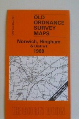 Old Ordnance Survey Map Norwich Hingham  District & Plan Hingham 1908 S161