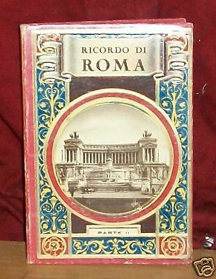 REMEMBER ROME Italy Vintage Photo Book  LOOK!