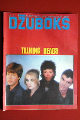 Talking Heads On Cover 1981 Very Rare Exyu Magazine