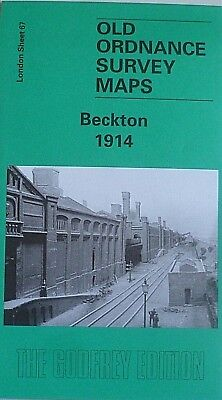 Old Ordnance Survey Maps Beckton London Plus Beckton Gas Works 1914 Godfrey Edit