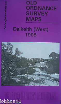 Old Ordnance Survey Detailed  Maps Dalkeith West Scotland 1905 Sheet 8.06 New