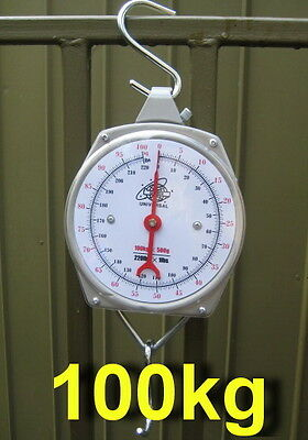 Free postage in Australia,Quality Mechanical Hanging Metal Scale up to 100 kg TN