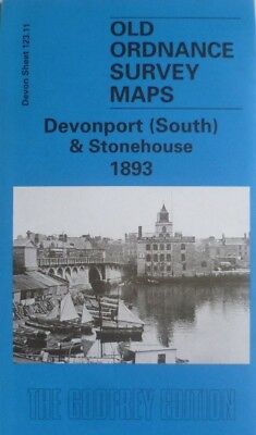 Old Ordnance Survey Maps Devonport (South ) & Stonehouse Devon 1893 Godfrey Edit
