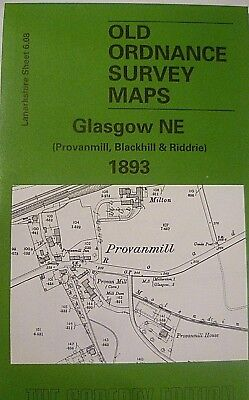 Old Ordnance Survey Maps Glasgow Ne  Scotland 1893 Godfrey Edition New