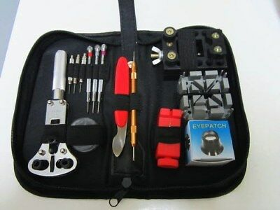 5 Units of Quality Watch Tool Kit Sets-12 Items + A Free Eyepatch