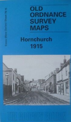 Old Ordnance Survey Maps Hornchurch Essex 1915 Godfrey Edition New