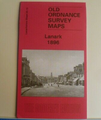 OLD ORDNANCE SURVEY DETAILED MAPS LANARK SCOTLAND 1896 Godfrey Edition New