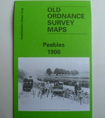 Old Ordnance Survey Map Royal Burgh Peebles Scotland 1906 Godfrey Edition New