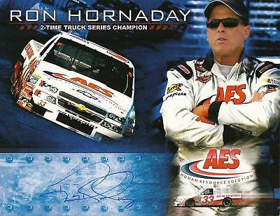 2006 RON HORNADAY #33 AES CTS NASCAR POSTCARD SIGNED