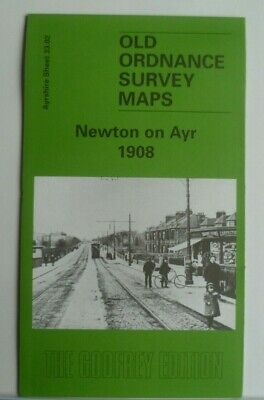 Old Ordnance Survey Detailed Maps Newton on Ayr Ayrshire 1908 Godfrey Edition