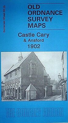 Old Ordnance Survey Detailed Maps Castle Cary & Ansford Somerset 1902 Godfrey Ed