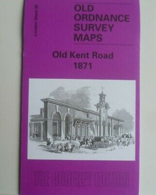 Old Ordnance Survey Detailed Maps Old Kent Road London 1871 Godfrey Edition New