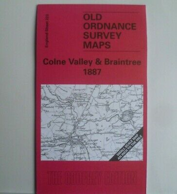 OLD ORDNANCE SURVEY MAPS COLNE VALLEY & BRAINTREE & PLAN MARKS TEY 1887 S223 New