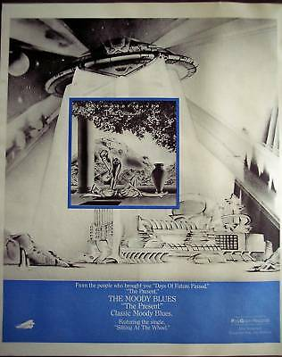 1983 The Moody Blues 'The Present' music promo ad