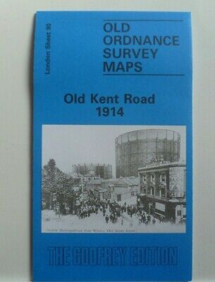 Old Ordnance Survey Detailed Maps Old Kent Road London 1914 Godfrey Edition New