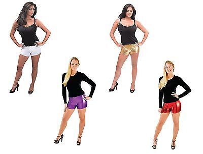 Womens Sexy Hot Pants Fancy Dress Costume All Colours