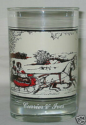 Arby's Currier & Ives Road In Winter 12-oz Glass