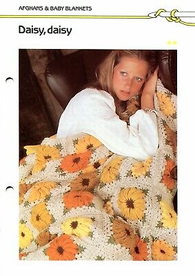 Quick /'n Easy Crocheting pattern Daisy Daisy ~ Floral Afghan