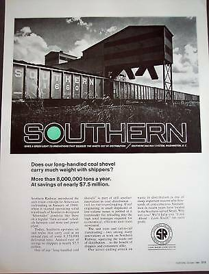 1968 Southern Railway System vintage train ad