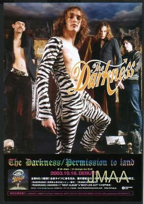 '03 THE DARKNESS Permission To Land JAPN PROMO PHOTO AD