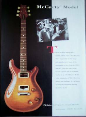 1995 PRS Guitars the Ted McCarty Model vintage music ad