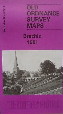 Old Ordnance Survey Maps Historic Town of  Brechin Scotland 1901 Godfrey Edition